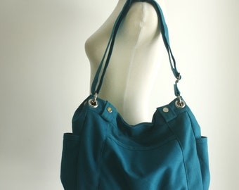 Anna in Teal Blue Messenger bag/diaper bag/School bag/cross body / Purse / tote bag/women / Back to school - Christmas big SALE 30%