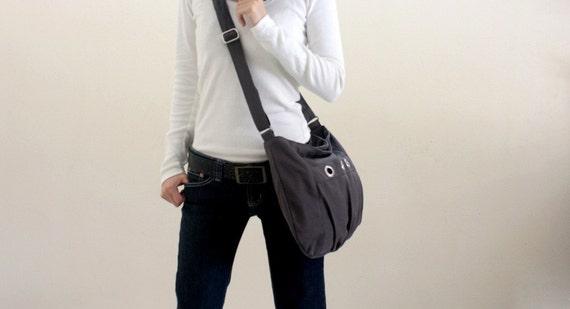Sale 30% - Gray Messenger bag,Small shouldr bag,Diaper bag,Women Tote bag,Cross body,Gift for her,  Vegan hobo bag  / no.16 DENISE