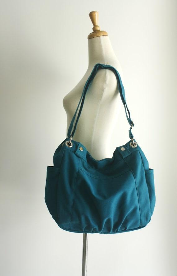 Anna in Teal Blue Messenger bag/diaper bag/School bag/cross body / Purse / tote bag/women / Back to school - Sale Sale Sale 30%