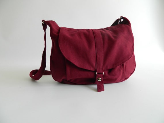 Big SALE 25% -Kylie in Rose Red Messenger bag /Shoulder bag / shoulder bag / Tote bag / Purse / Handbag  / For her / School Bag