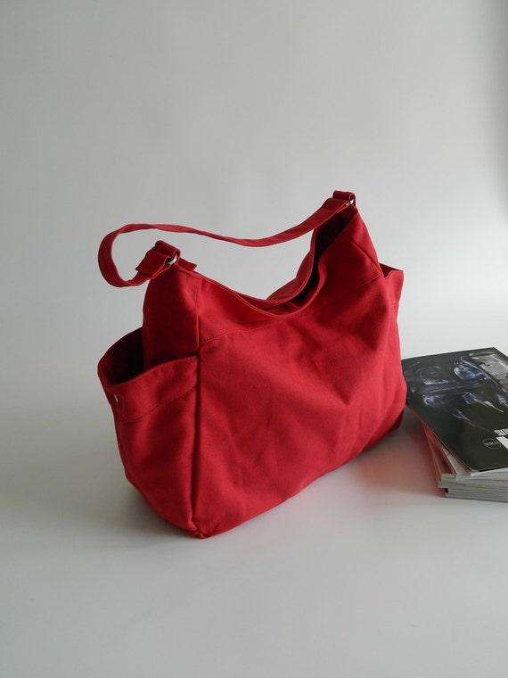 CHRISTMAS SALE - 20% - Renee in Red // Tote / shoulder bag / Diaper bag / Handbag / Purse / Gift for her / women