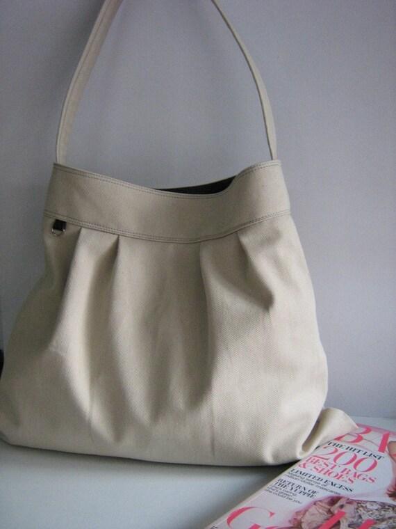 NEW market bag in beige