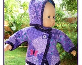 Quilted Baby Doll Jacket and Hat Pattern - Fits Bitty Baby and 15 inch dolls