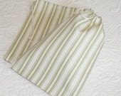 Green Tea Ticking Stripe, Drawstring Bags, Pouches, set of 8, 5.75 x 8.5 inches
