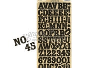 Graphic 45 Staples Alphabet Stickers