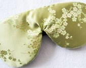 Sleep mask in all Silk cherry blossoms Fully Adjustable