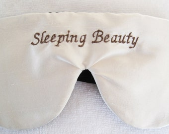 Luxury Silk Personalized Sleep Mask Eye Mask Fully Adjustable