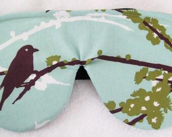 Real Silk and Birds Sleep Mask Eye Mask Travel Mask Eye Pillow Eye Shade