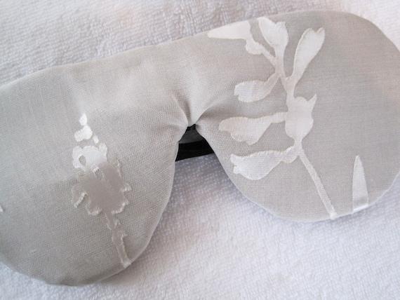 Natural Linen and Silk Luxury Sleep Mask Eye Mask