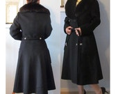 Lowest Price Ever Sale Vintage Late 1940s 1950s Joseph Stein Designer Wool/Fur Coat Old Hollywood Style