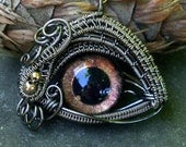 Gothic Steampunk Evil Eye Pendant New Color Sable