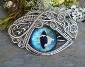 Gothic Steampunk Medium Evil Eye Creepyness With Glass Eye