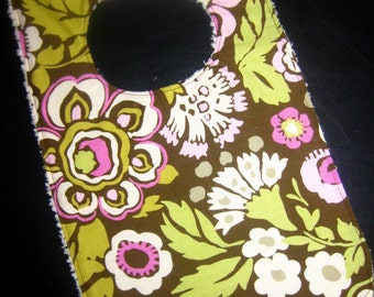 Bib- Brown Deco Rose Toddler Bib