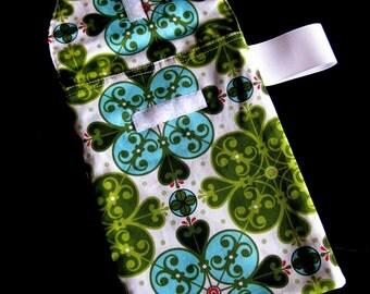 Sale!! 50% off- READY 2 SHIP-Leaf Gothic Flower Diaper Clutch with a Pocket