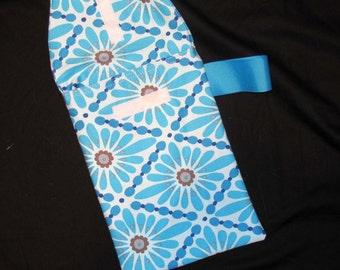 Sale!! 50% off - Blue Diamond Web Diaper Clutch with a Pocket- Ready 2 Ship