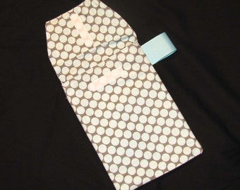 Slate Moon Dot Diaper Clutch with a Pocket