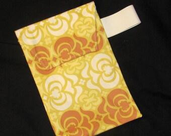 Sale 50% Off!!  Diaper Clutch - Rust Garden Maze Diaper Clutch with Pocket