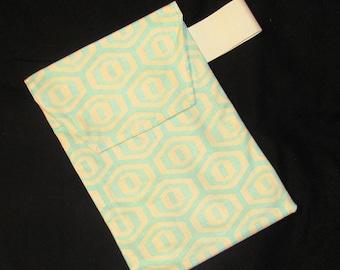 Sale 50% Diaper Clutch - Aqua Honeycomb Diaper Clutch with Pocket