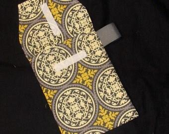 Diaper Clutch - Granite Scrollwork Diaper Clutch with Pocket-Ready to Ship