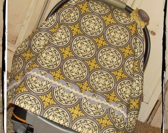 Ready 2 Ship- Granite Scrollwork Carseat Canopy