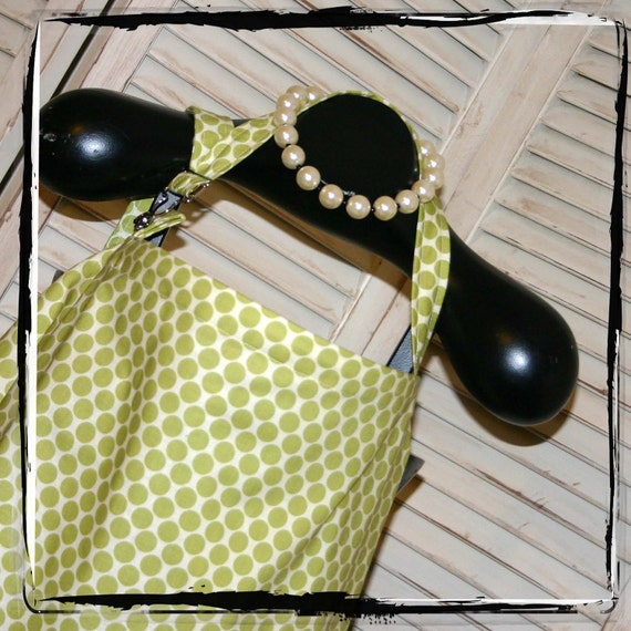 Nursing Cover - Lime Moon Dot HideAway Nursing Cover Up with OVERALL BUCKLE-Ready 2 Ship