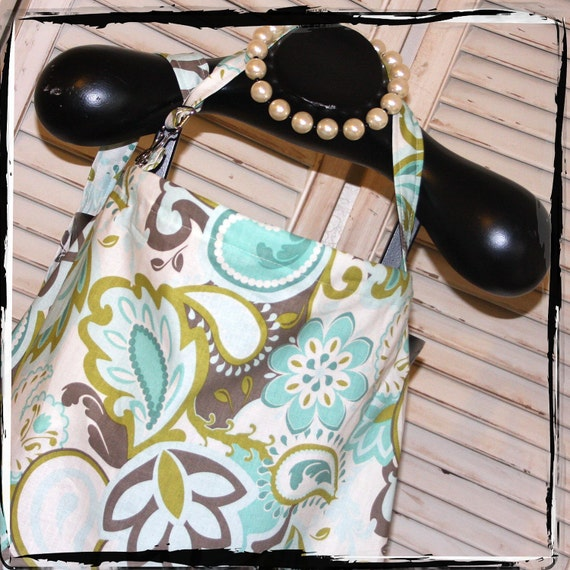 Teal Verona Nursing Cover- HideAway Nursing Cover Up with OVERALL BUCKLE