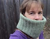 Sage green crochet Cowl