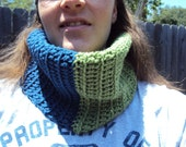 Two Toned Crochet Cowl