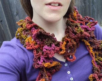 Festive fall Ruffle scarf