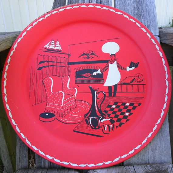 Stoyke Red BBQ Platter or Serving Tray