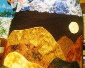 mountain moonrise apron revisited SALE 25 PERCENT OFF
