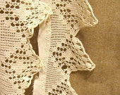 Vintage Crocheted Lacey Pinked Edge Trim
