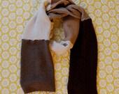 Textured  toasty cashmere scarf