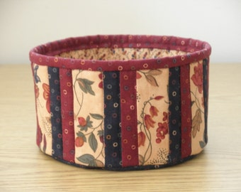 Quilted Fabric Bowl - Floral (EDbowlG)