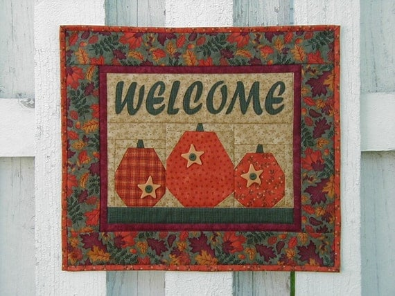 Welcome Wall Hanging - Pumpkin (TGWLG)