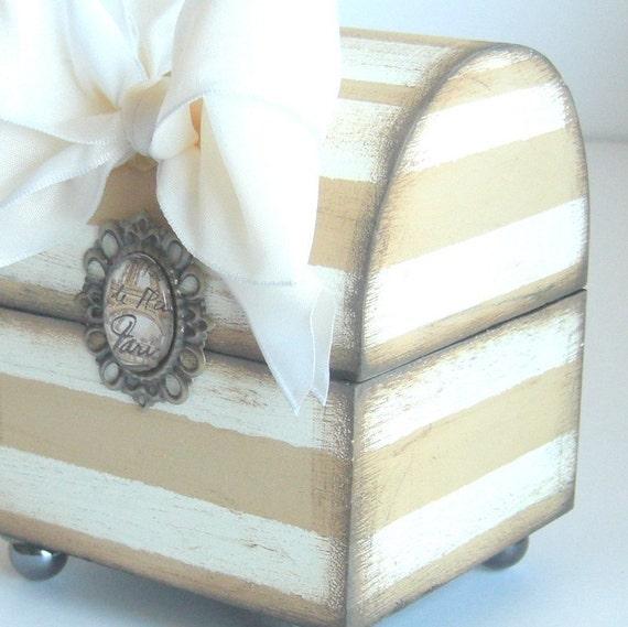 Trinket Box Mocha Striped