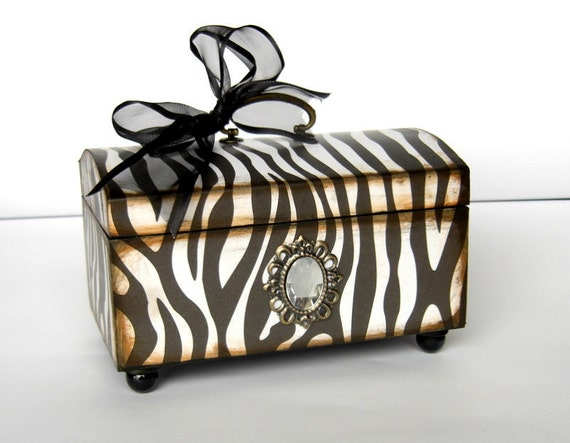 Trinket Box for the Zebra Lover
