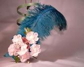 SALE Gotta Dance Rockabilly Burlesque Vintage Hair Feather Fascinator