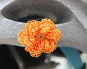 Orange and Yellow Reflective Flower Bicycle Accessory on Velcro- All sales become a donation to the American Lung Association