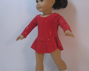 2056 - 18 Inch Doll Clothes Ice Skating Dress fits American Girl