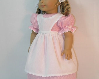 1854-1055, Birthday Dress for Amercan Girl Kirsten, 18 Inch Doll Clothing