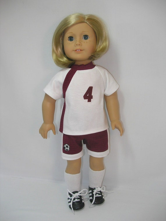 18 Inch American Girl Doll Clothes Uniform Cleats Socks 209