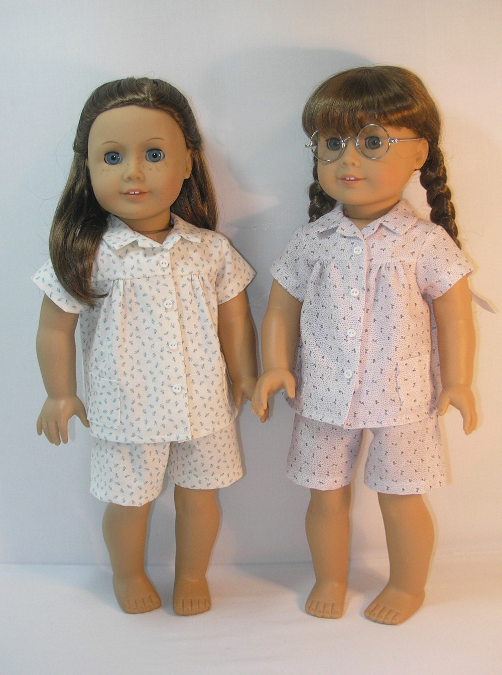 1944 410 american girl doll clothes molly pajamas by terristouch. Black Bedroom Furniture Sets. Home Design Ideas