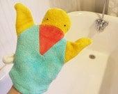 Eco Organic Duck Bath Wash Cloth Mitt