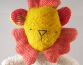 Organic Baby Toy Lion Plush Eco Friendly Green Toddler Doll
