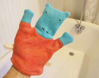 Hippo Organic Bath Wash Cloth Mitt