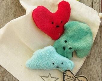 Organic Toddler Toy Montessori Nature Bean Bag Toss n Play Gift Set