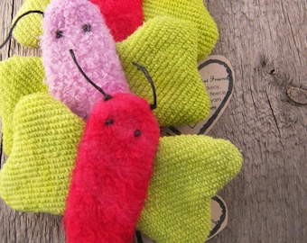 Organic Toy Finger Puppet Firefly Butterfly Insect