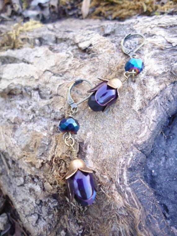 blue bottle rogue earrings
