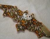 Orange Zoo Themed Bat Stuffed Animal, Toy, Coffee Cozy, Cup Sleeve